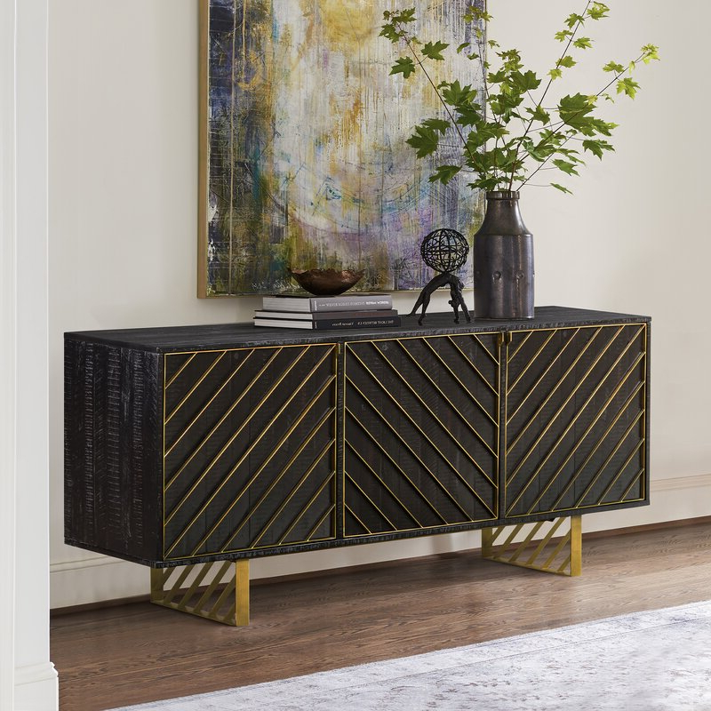 """Jakobe 66"""" Wide Sideboards Regarding Most Recently Released Everly Quinn Benford 66'' Wide Sideboard (View 6 of 20)"""