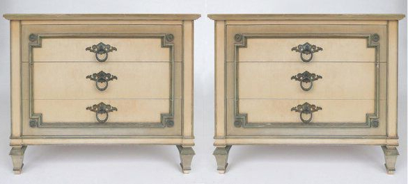 """John Widdicomb Hand Painted Night Tables With Drawers A With Regard To Famous Ogden 59"""" Sideboards (View 6 of 20)"""
