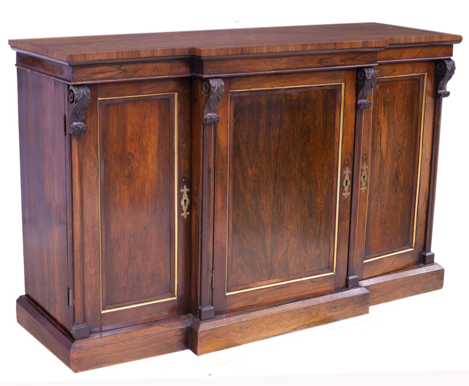 Keeney Sideboards Pertaining To Latest American Mahogany Breakfront Sideboard – High End Estates (View 7 of 20)