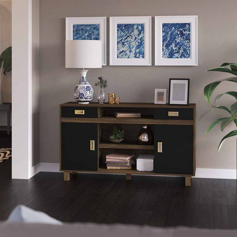 Kemble Tv Stands For Tvs Up To 56 With Well Known Two Tone Tv Stand For Tvs Up To 60″ – Twin Star Staging (View 5 of 20)