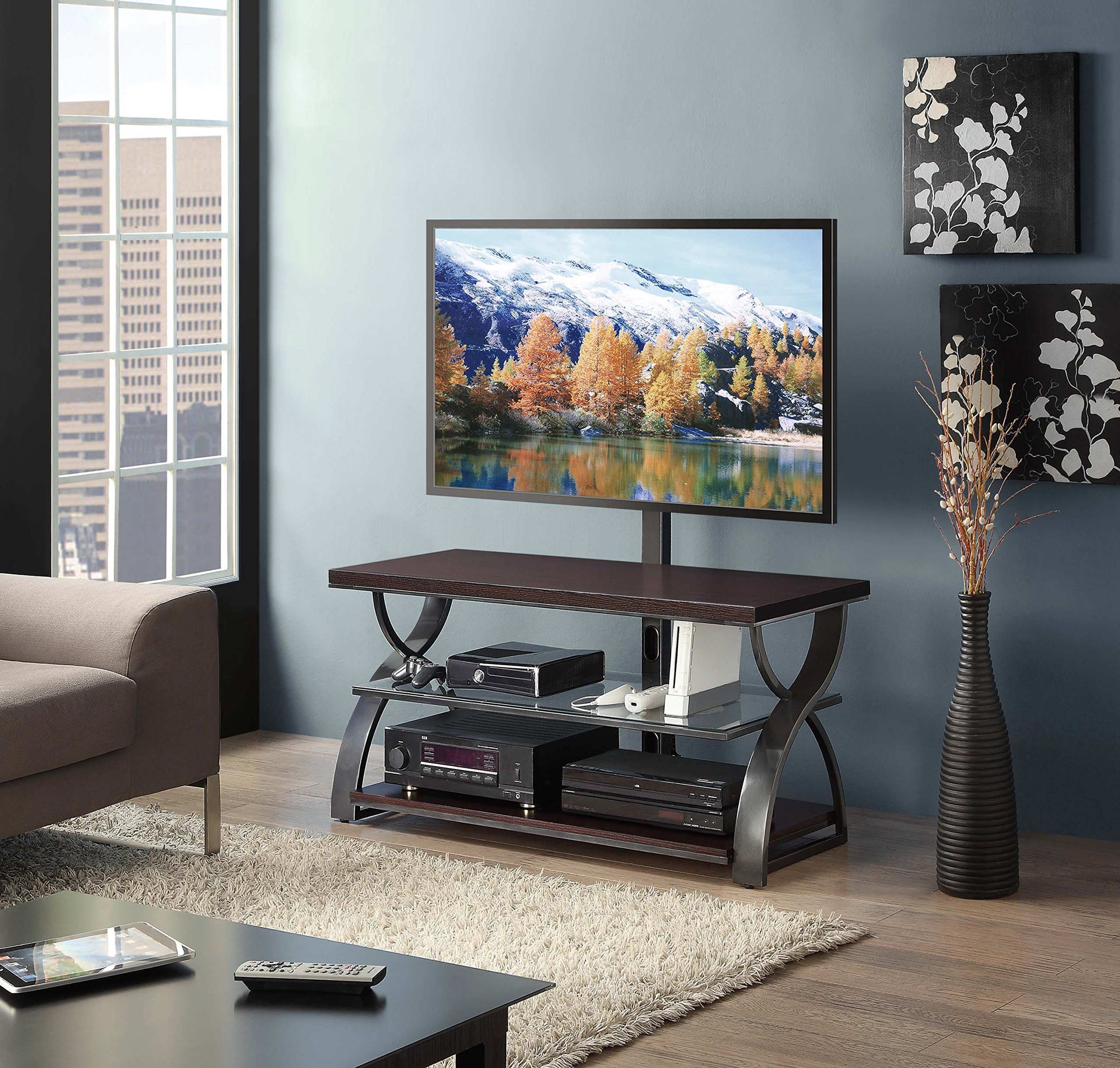 """Khia Tv Stands For Tvs Up To 60"""" Pertaining To Popular Cheap Whalen 3 In 1 Tv Stand 60, Find Whalen 3 In 1 Tv (View 15 of 20)"""