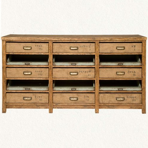 Kitchen Island? Nine Drawer Console Eclectic Buffets And Within Well Known Raymund (View 8 of 20)