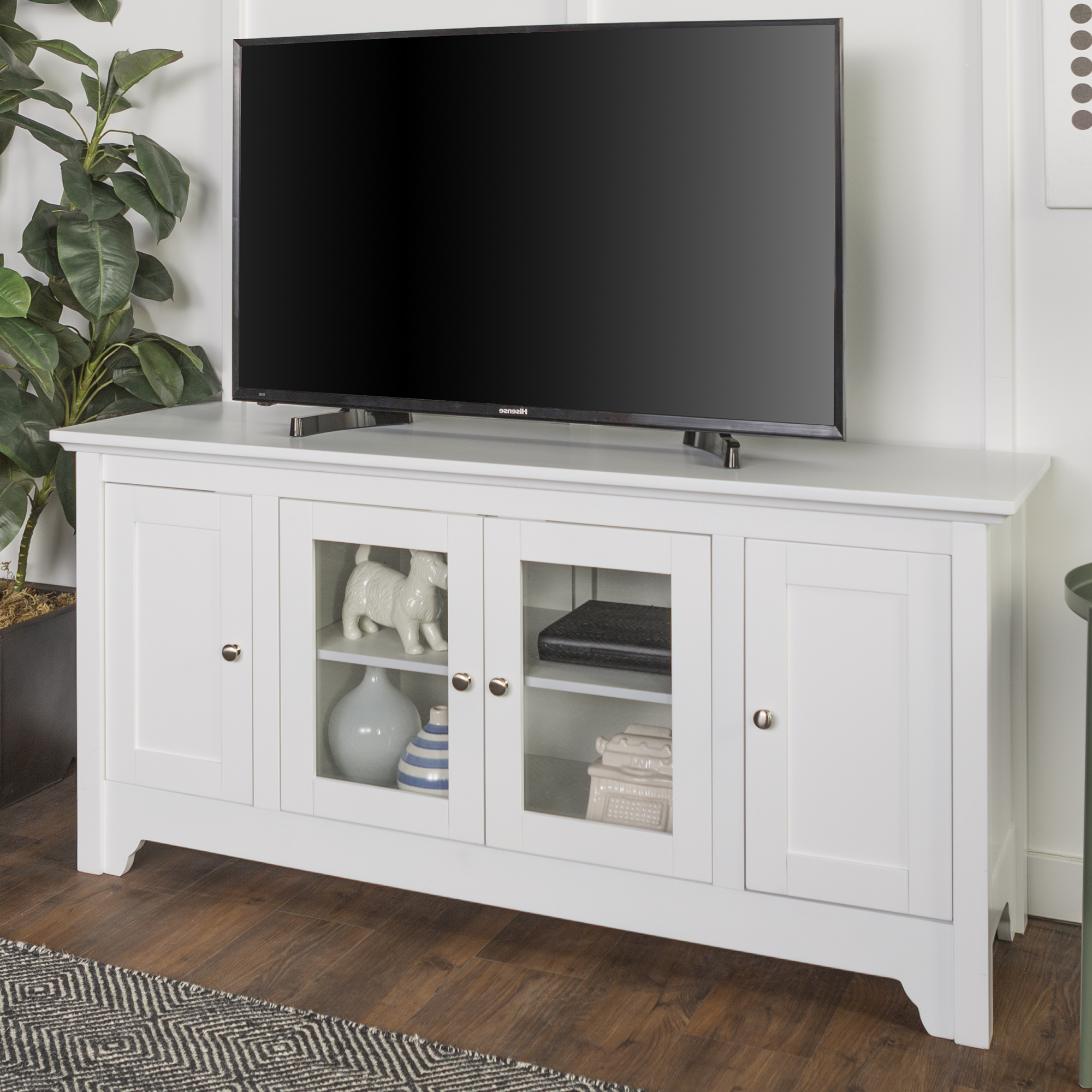 """Labarbera Tv Stands For Tvs Up To 58"""" In Widely Used Walker Edison White Wood Tv Stand For Tvs Up To (View 2 of 20)"""
