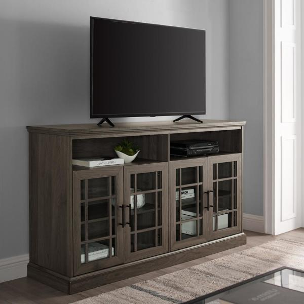 """Labarbera Tv Stands For Tvs Up To 58"""" Throughout Fashionable Welwick Designs 58 In (View 7 of 20)"""