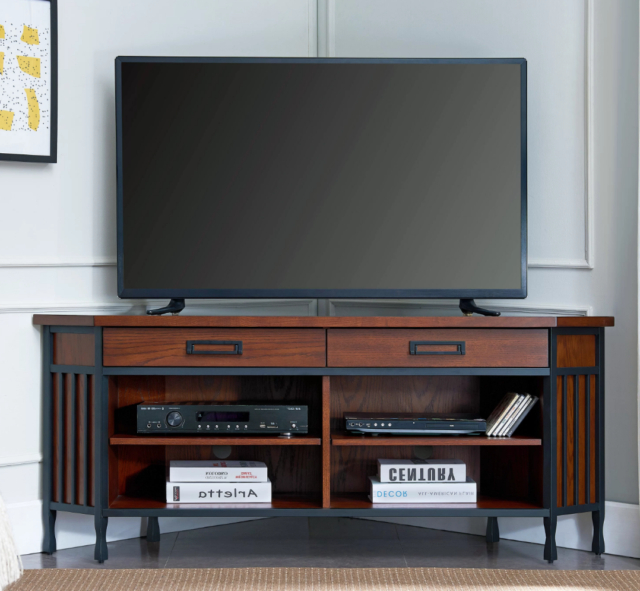 """Latest Alannah Tv Stands For Tvs Up To 60"""" Within Corner Tv Stand Entertainment Center Console 60 Inch Steel (View 17 of 20)"""