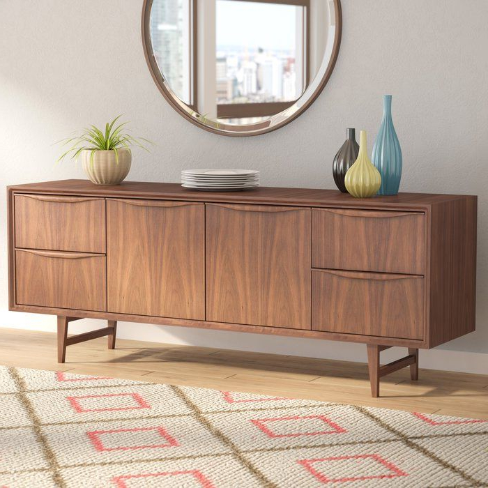 """Latest Divis 71"""" Wide 4 Drawer Buffet Table (View 3 of 20)"""