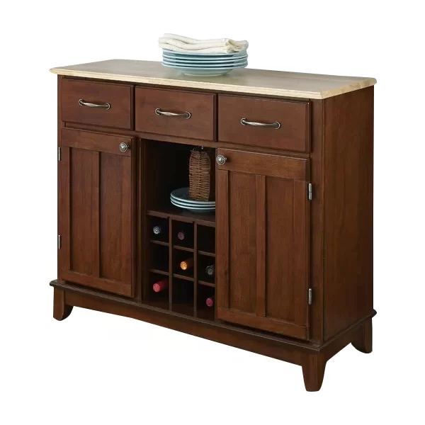 """Latest Presswood Traditional 41.75"""" Wide 3 Drawer Wood Server For Presswood Traditional (View 17 of 20)"""