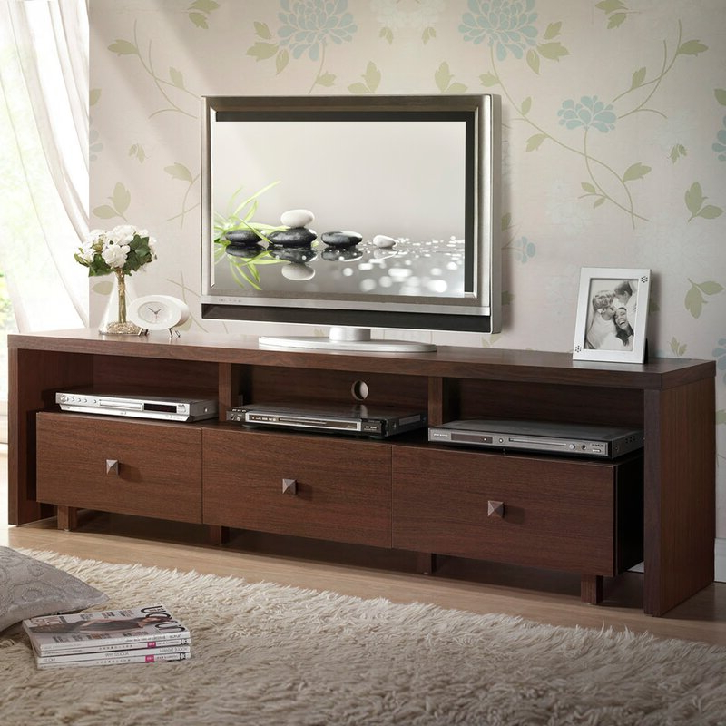 """Latest Wrought Studio Andreoni Tv Stand For Tvs Up To 75 Inside Lucille Tv Stands For Tvs Up To 75"""" (View 7 of 20)"""