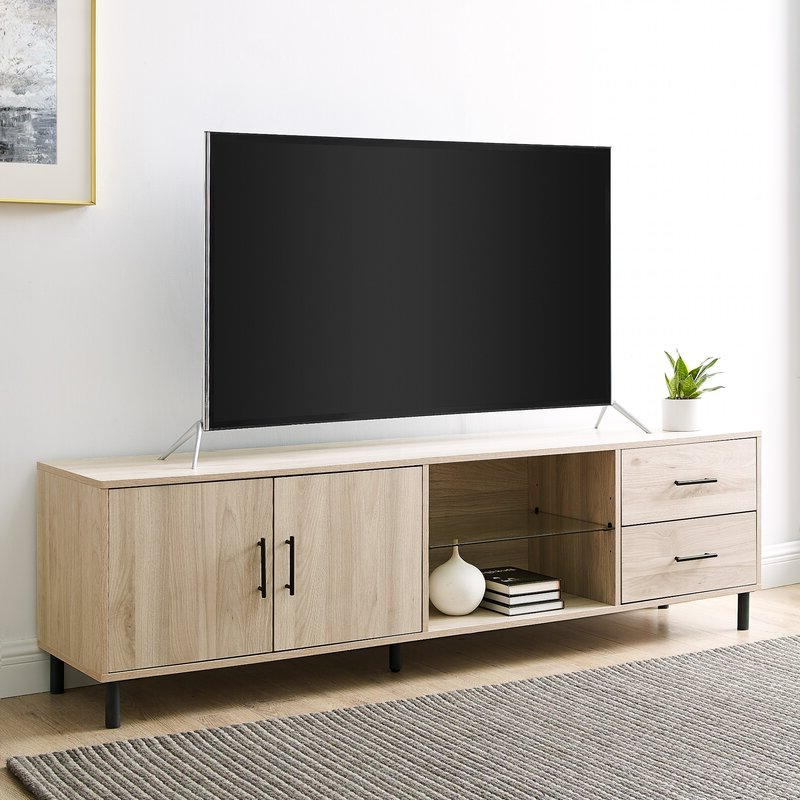 """Latitude Run® Briyelle Tv Stand For Tvs Up To 78 In Most Current Ira Tv Stands For Tvs Up To 78"""" (View 14 of 20)"""