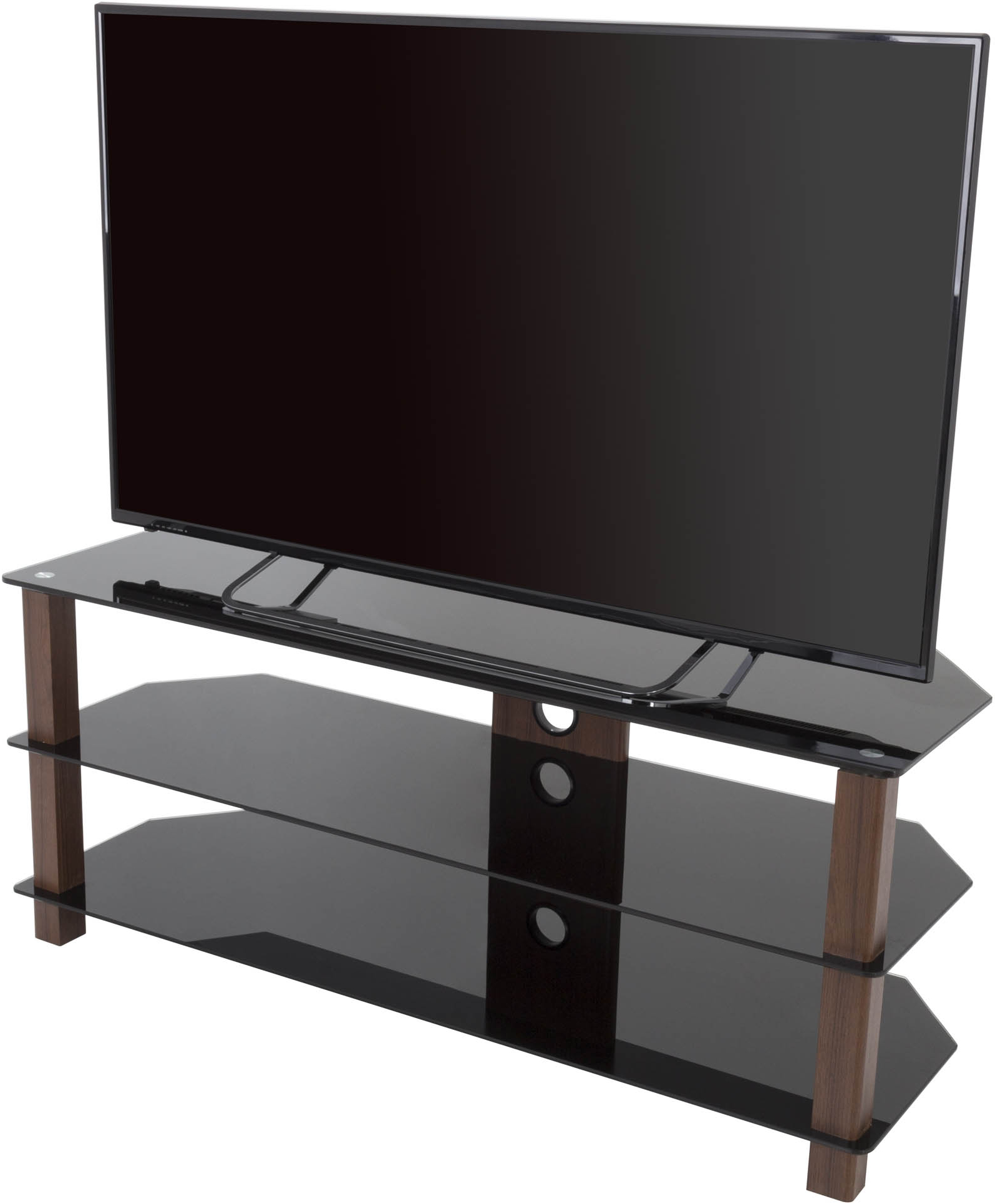 """Leafwood Tv Stands For Tvs Up To 60"""" With Best And Newest Avf Fs1250valwb3 Wg Series Glass Corner Tv Stand For Tvs (View 11 of 20)"""