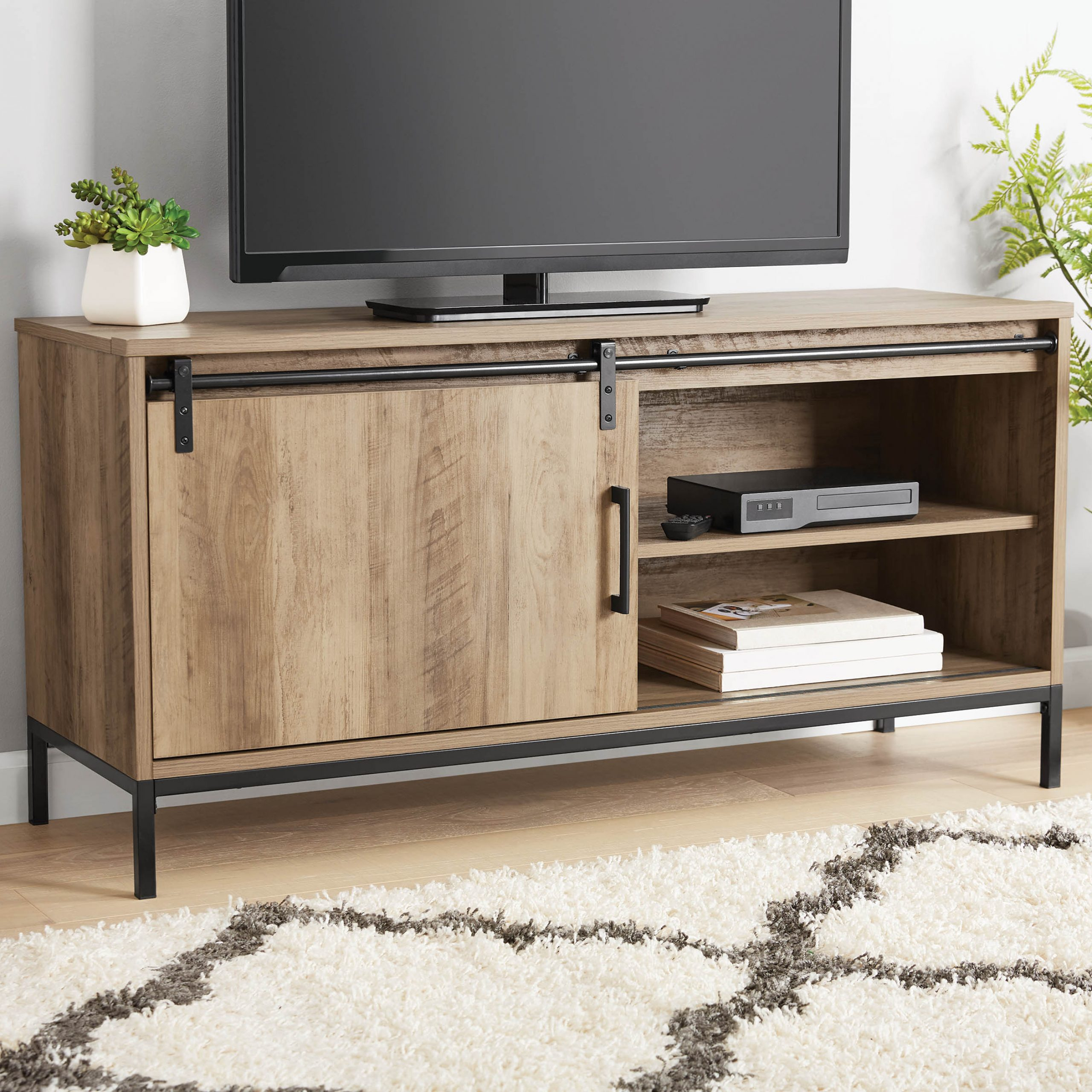 """Lederman Tv Stands For Tvs Up To 70"""" For Trendy Mainstays Tv Stand, For Tvs Up To 54"""", Rustic Weathered (View 4 of 20)"""