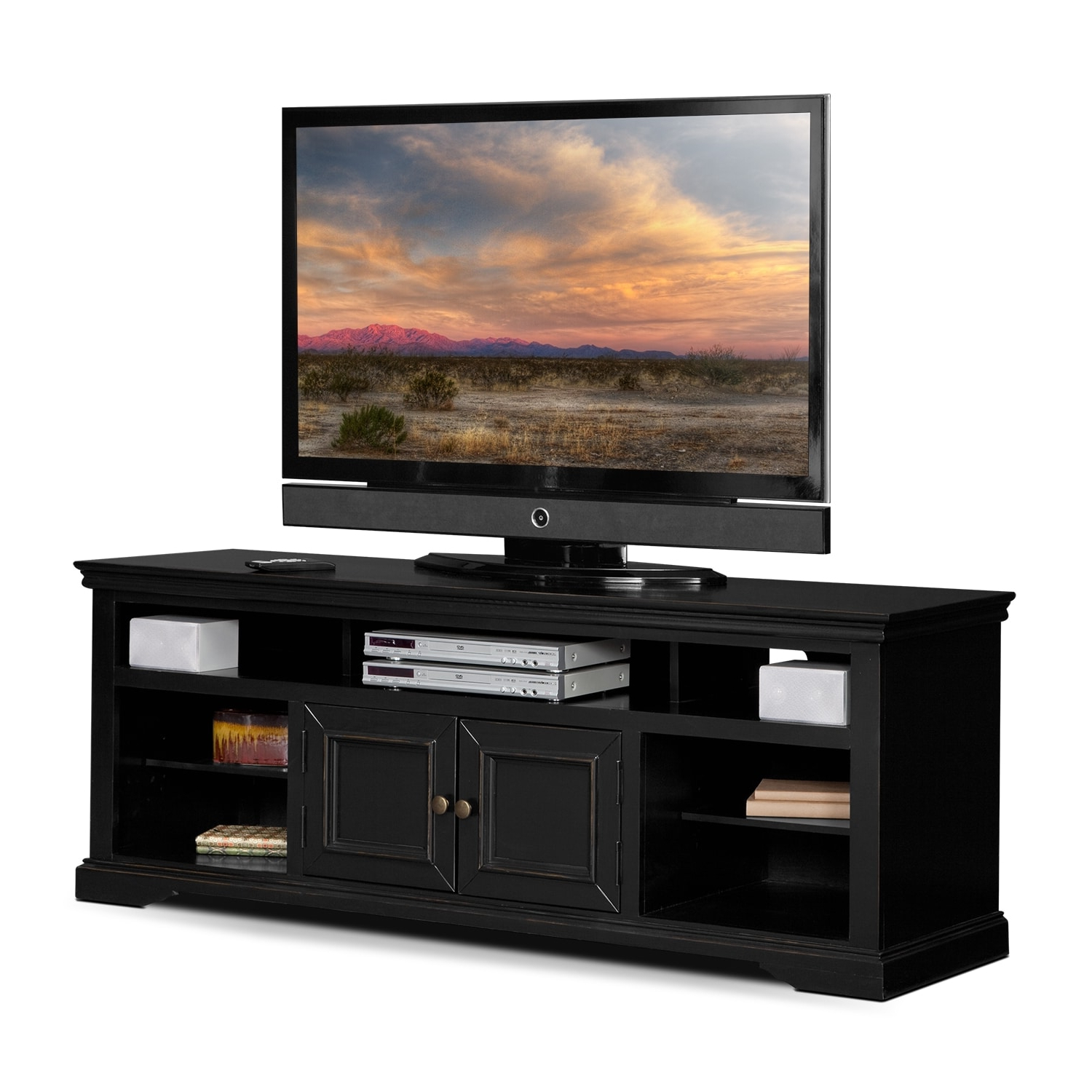"""Lederman Tv Stands For Tvs Up To 70"""" Within Well Liked Jenson 70"""" Tv Stand – Black (View 8 of 20)"""