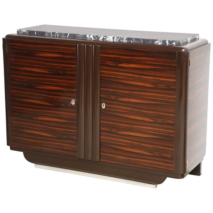 Leveille Buffet Tables Intended For Trendy Art Deco Midcentury Macassar Sideboard Marble Top (View 8 of 20)