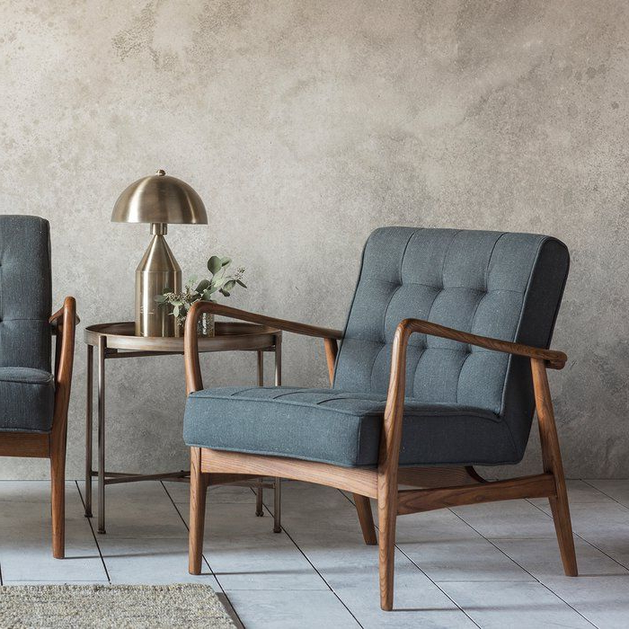 """Linen Armchair, Furniture Uk, Furniture Throughout Most Current George Oliver Sideboards """"new York Range"""" Gray Solid Pine Wood (View 7 of 20)"""