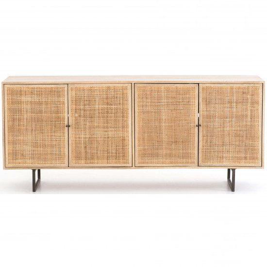 "Living Room Decor Neutral, Mango Wood Regarding Trendy Northwood 72"" Wide Mango Wood Buffet Tables (View 2 of 20)"