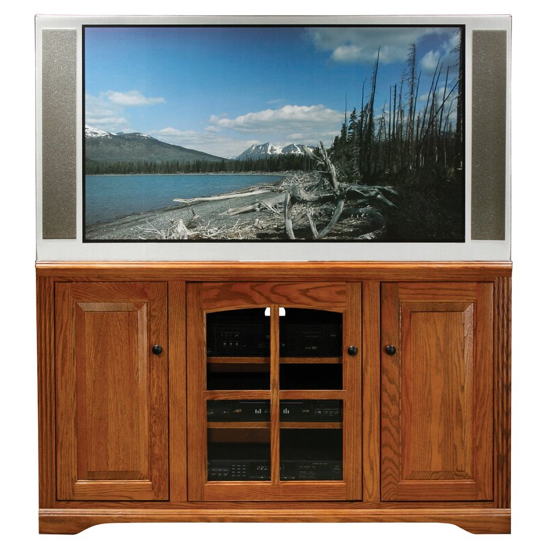 """Loon Peak® Glastonbury Solid Wood Tv Stand For Tvs Up To Pertaining To Trendy Aaric Tv Stands For Tvs Up To 65"""" (View 19 of 20)"""