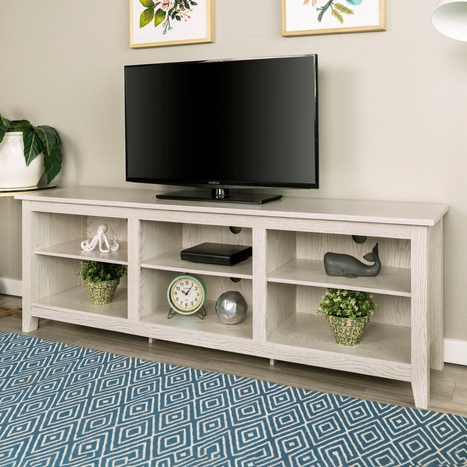 """Lucille Tv Stands For Tvs Up To 75"""" Intended For Newest 75 Inch Long Tv Stand Table White Modern (View 8 of 20)"""