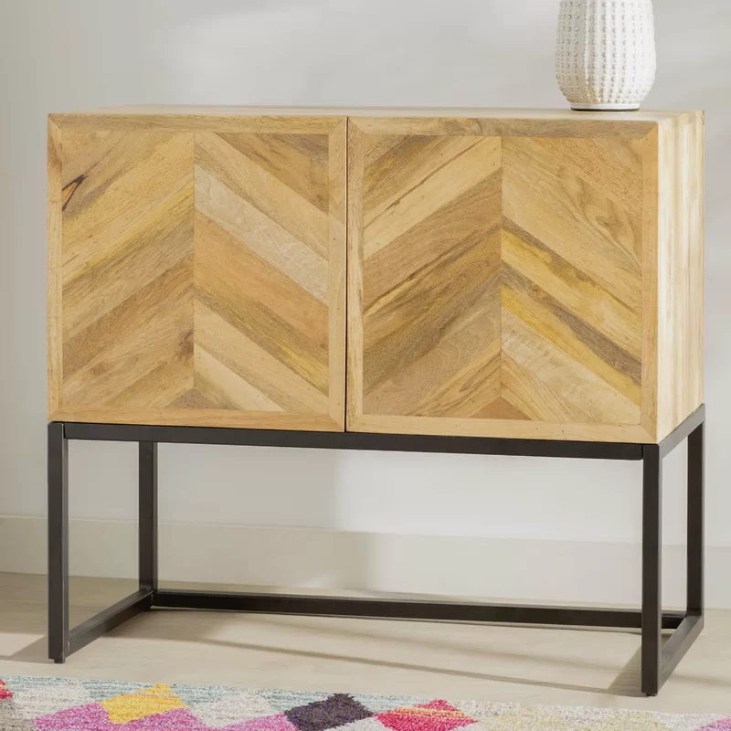 """Maddox 80"""" Wide Mango Wood Sideboards Within Fashionable Anamaria 36"""" Wide 1 Drawer Mango Wood Buffet Table In (View 2 of 20)"""