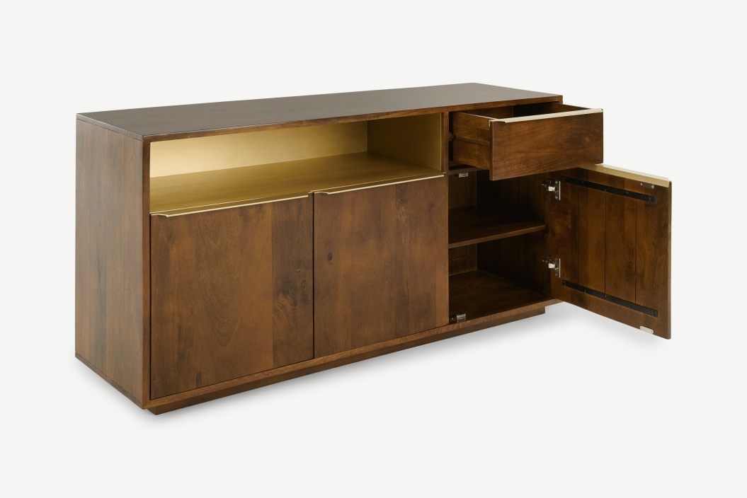 """Made Within Strock 70"""" Wide Mango Wood Sideboards (View 17 of 20)"""