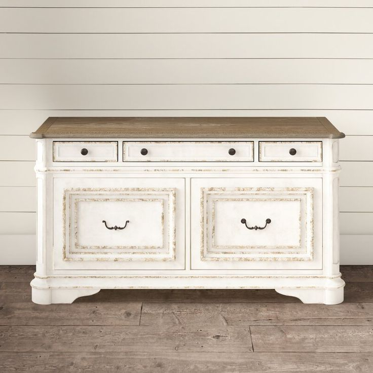 """Maeva 60"""" 3 Drawer Sideboards Inside Widely Used Salinas 56"""" Wide 3 Drawer Sideboard In (View 13 of 20)"""