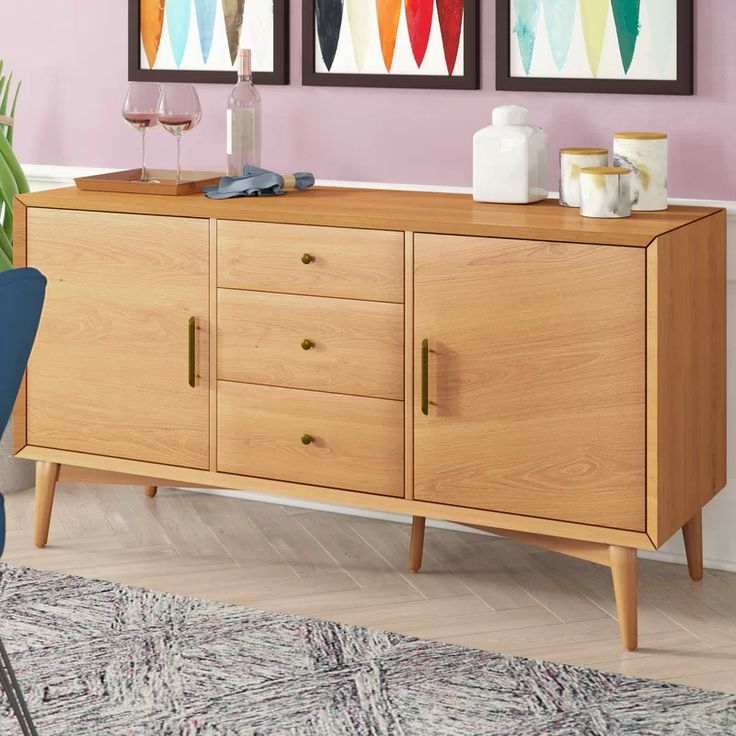 """Featured Photo of Maeva 60"""" 3 Drawer Sideboards"""