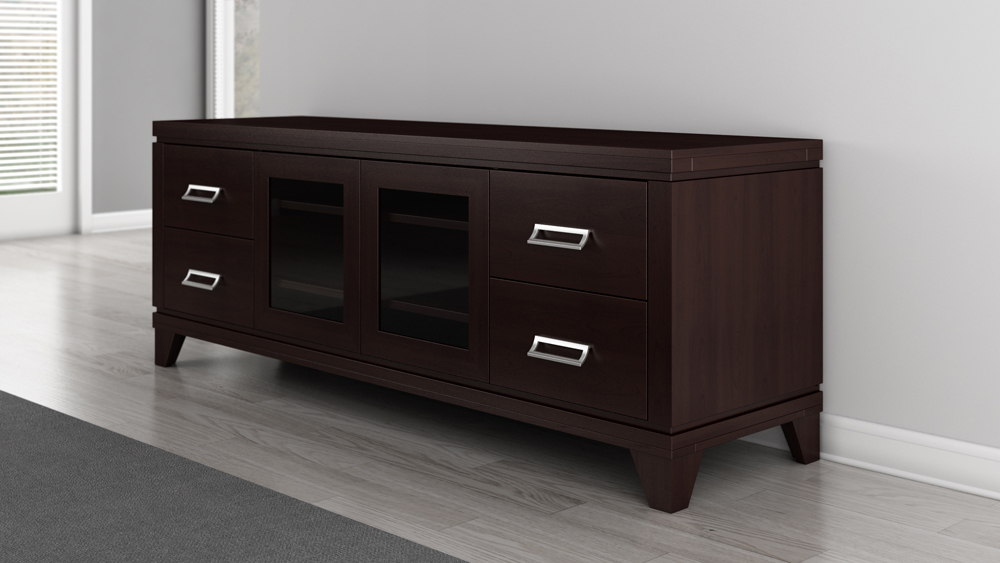 """Mainor Tv Stands For Tvs Up To 70"""" In Most Up To Date Furnitech – 70"""" Transitional Tv Stand – Ft70so (View 16 of 20)"""