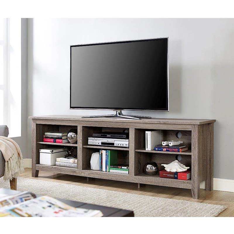 """Mainor Tv Stands For Tvs Up To 70"""" Within Well Known Walker Edison Essentials 70 Inch Tv Stand Ash Grey W70cspag (View 13 of 20)"""