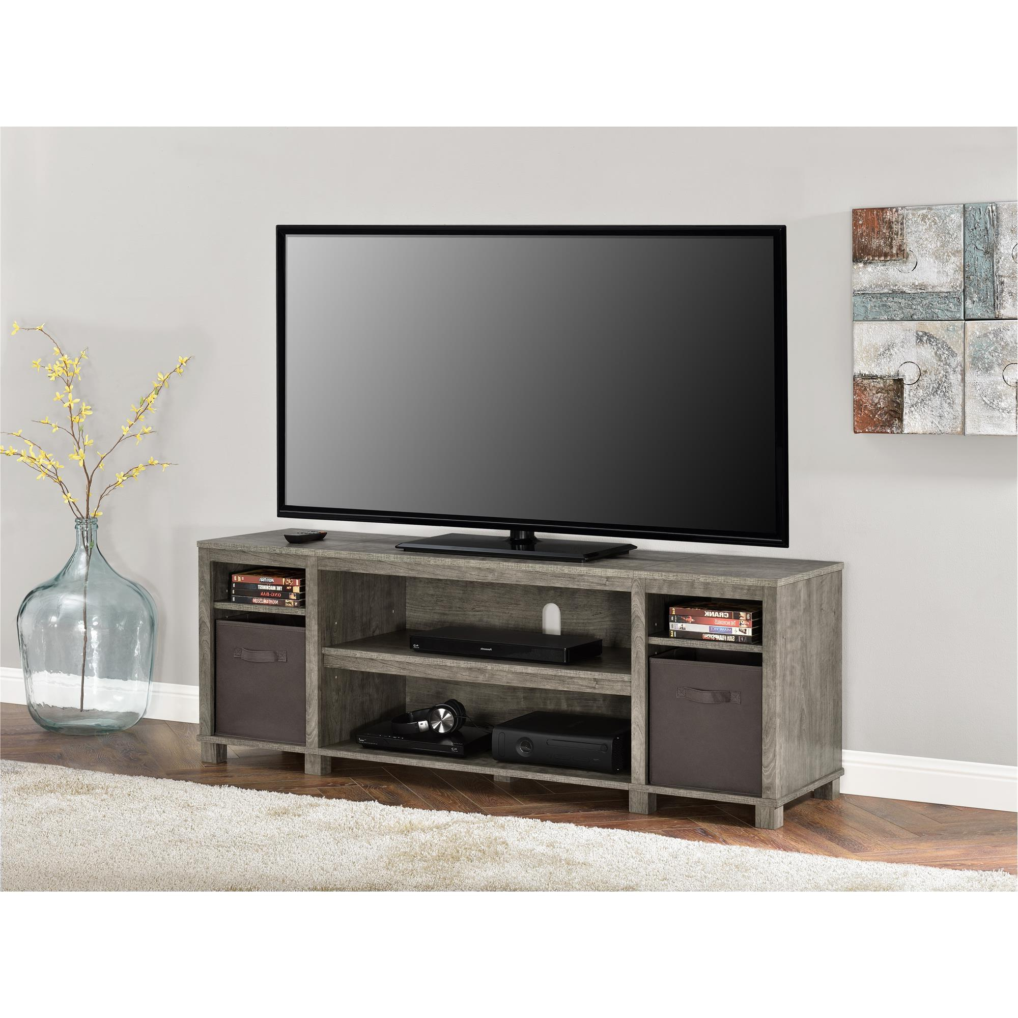 """Mainstays Tv Stand With Bins For Tvs Up To 65"""", Multiple With Most Current Buckley Tv Stands For Tvs Up To 65"""" (View 10 of 20)"""