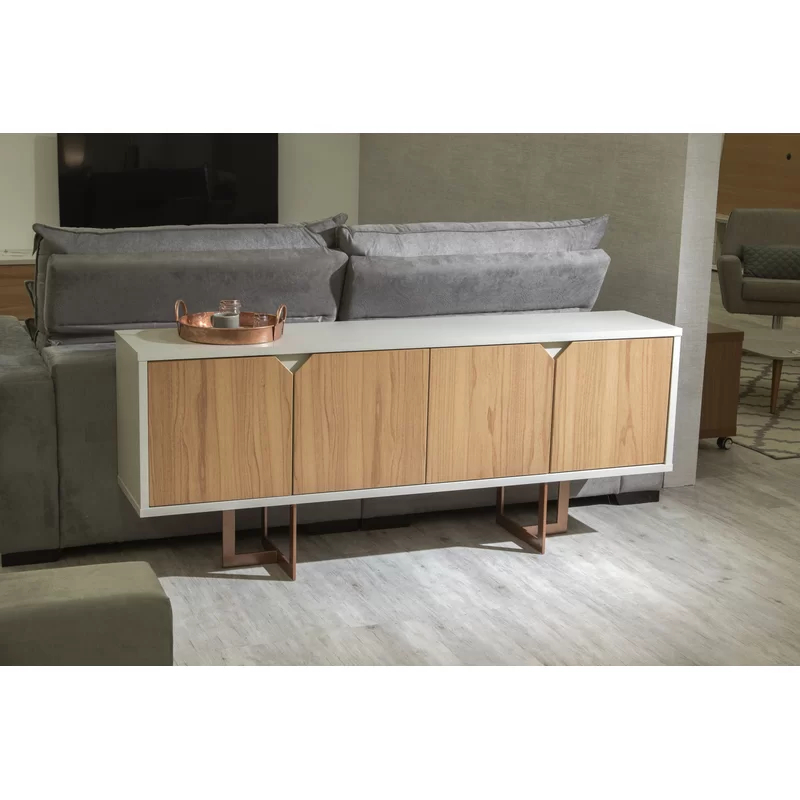 """Manhattan Comfort, Modern Within Well Known Reece 79"""" Wide Sideboards (View 5 of 20)"""