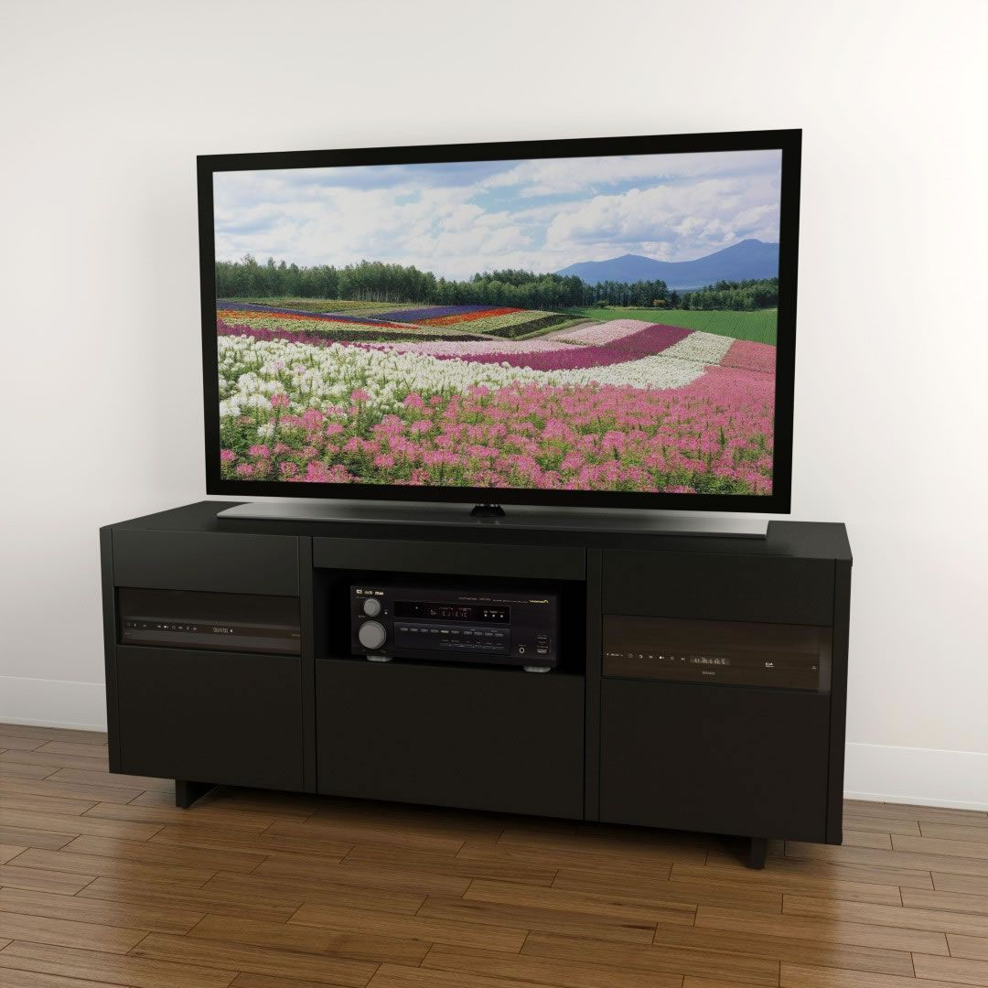 """Miah Tv Stands For Tvs Up To 60"""" Regarding Trendy Nexera Vision 60 Inch Tv Stand (black) – Nx  (View 18 of 20)"""