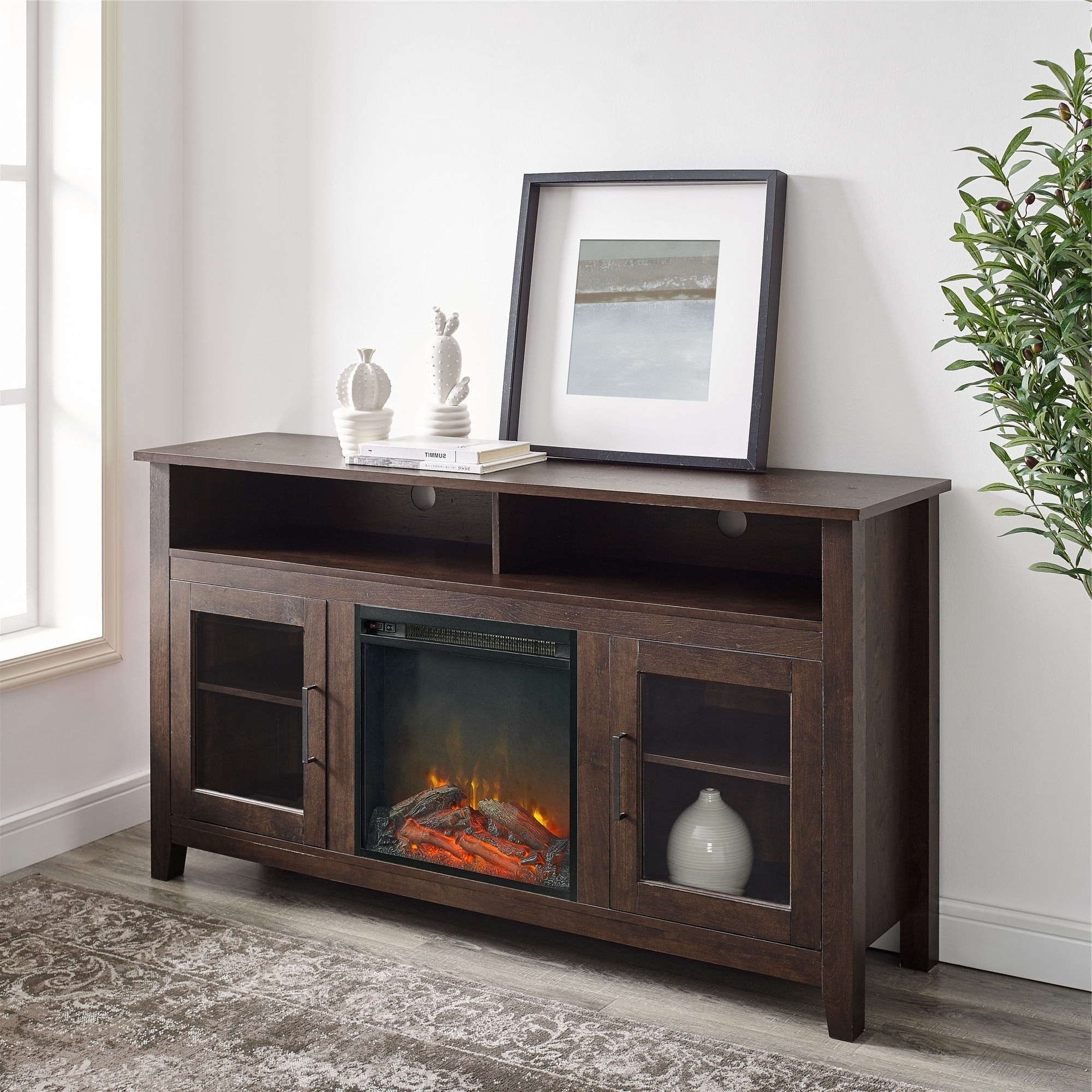 """Middlebrook Designs 58 Inch Highboy 2 Door Fireplace Tv In Popular Josie Tv Stands For Tvs Up To 58"""" (View 16 of 20)"""