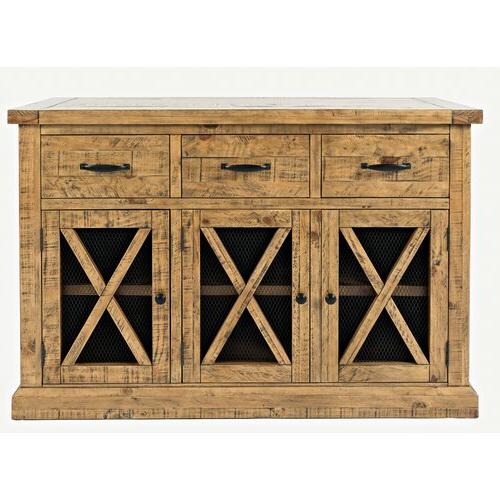 "Millstadt 52"" Wide 3 Drawer Pine Wood Buffet Tables With Trendy Loon Peak® Thame 52"" Wide 3 Drawer Pine Wood Sideboard (View 2 of 20)"