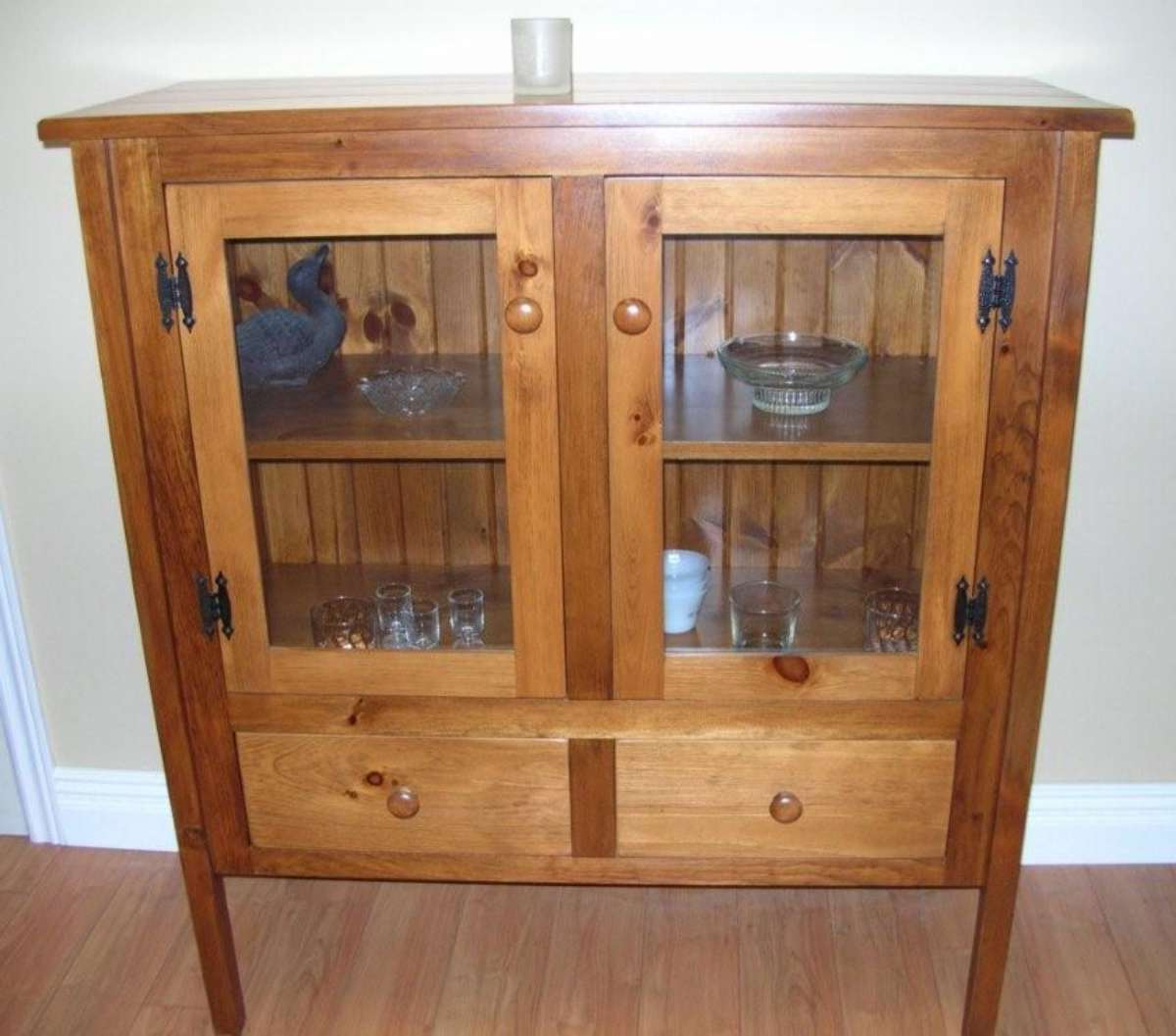 """Millstadt 52"""" Wide 3 Drawer Pine Wood Buffet Tables Within Current Rustic Pine Glass Door Sideboard – Solid Wood Mennonite (View 12 of 20)"""
