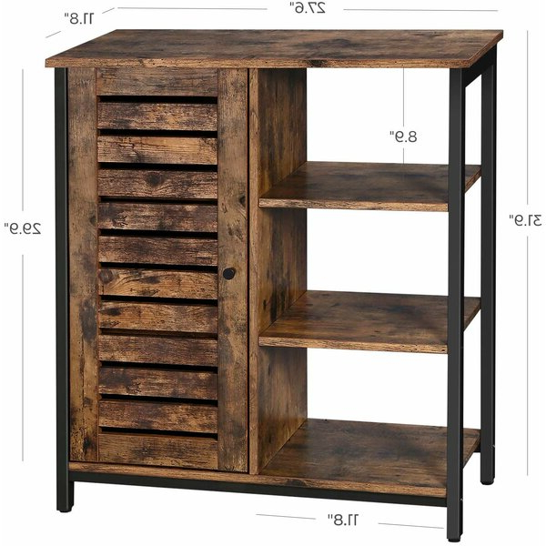 Millwood Pines Floor Storage Cabinet With 2 Doors And 2 Open Shelves In Most Current Millwood Pines Kaye 1 Door Accent Cabinet & Reviews (View 19 of 20)