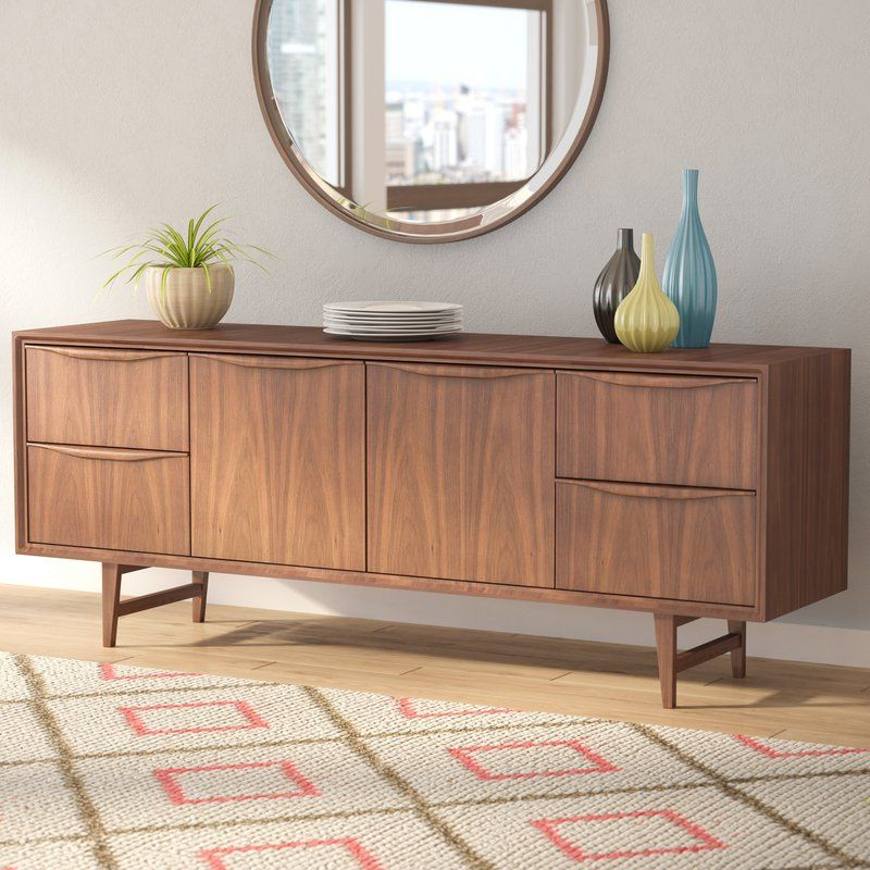 """Miruna 63"""" Wide Wood Sideboards With Fashionable Divis 71"""" Wide 4 Drawer Buffet Table (View 8 of 20)"""