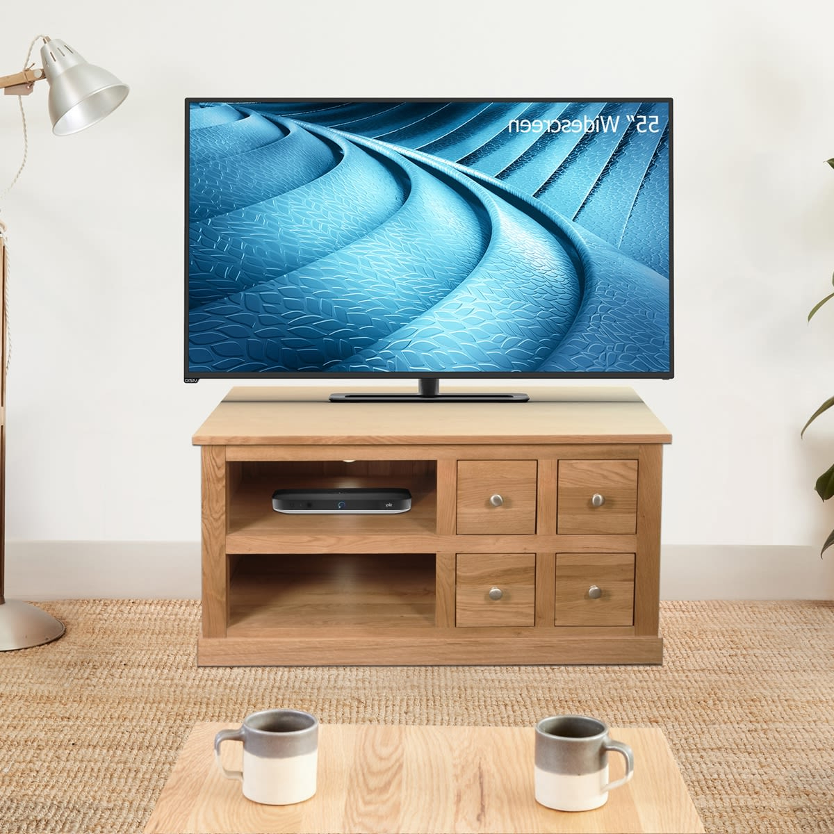 Mobel Oak Four Drawer Television Cabinet Was £ (View 11 of 20)