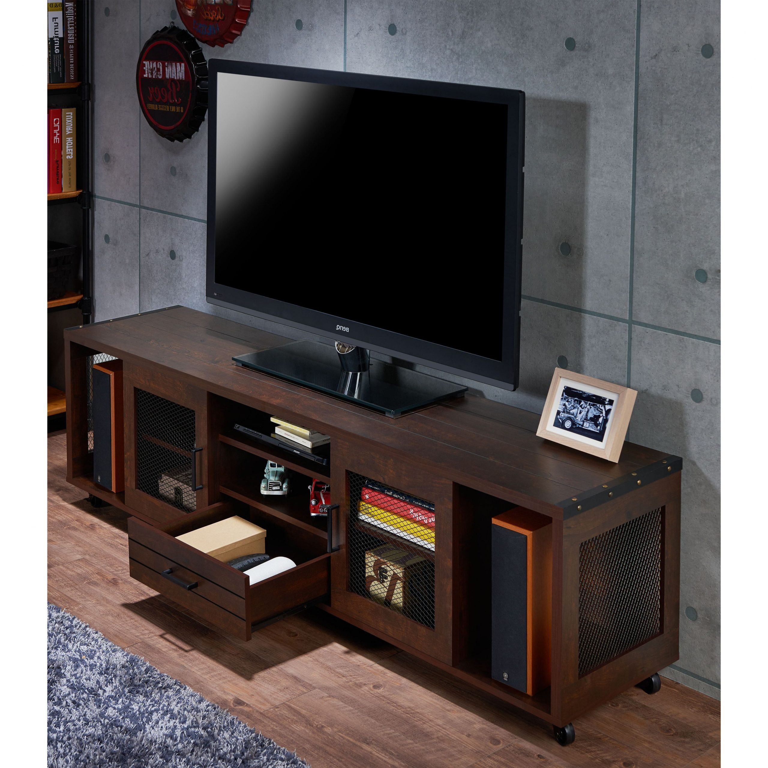 """Modern Entertainment For Fashionable Ira Tv Stands For Tvs Up To 78"""" (View 12 of 20)"""