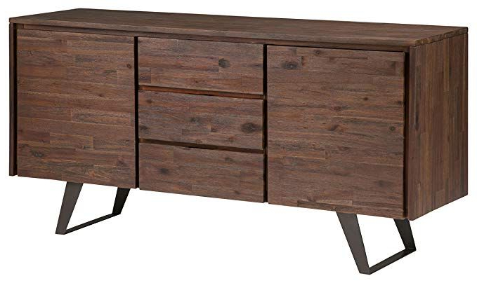 """Most Current Amazon – Simpli Home Axclry 10 Lowry Solid Acacia Wood For Myndi 60"""" Wide Sideboards (View 18 of 20)"""