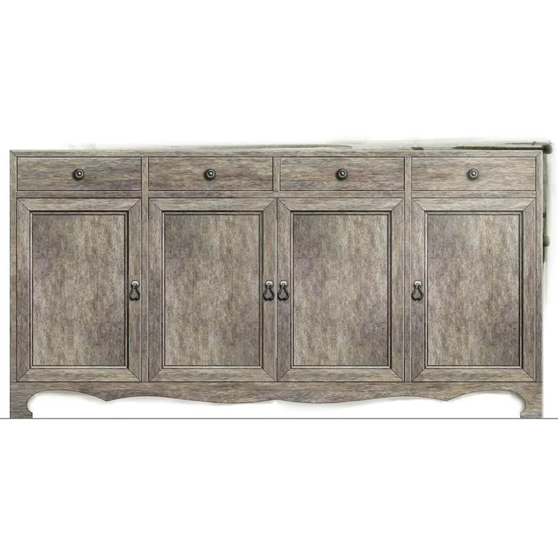 """Most Current Bruin 56"""" Wide 2 Drawer Sideboards Within Stanley Furniture Willow 56"""" Wide 6 Drawer Sideboard (View 2 of 20)"""