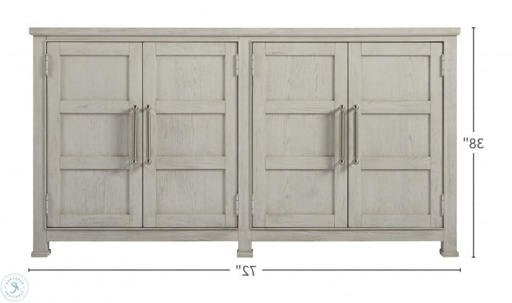 """Most Current Coastal Living Sandbar 4 Door Credenza From Universal Throughout Yukon 58"""" Wide 2 Drawer Pine Wood Sideboards (View 20 of 20)"""