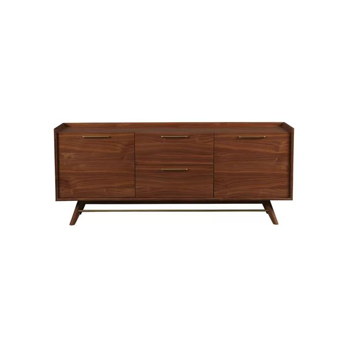 """Most Current Emmie 84"""" Wide Sideboards Pertaining To Adam 71"""" Wide 2 Drawer Sideboard (com Imagens) (View 10 of 20)"""