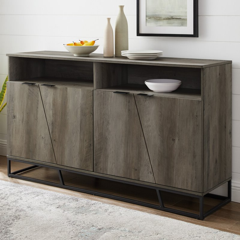 """Most Current Fritch 58"""" Wide Sideboard & Reviews (View 3 of 20)"""