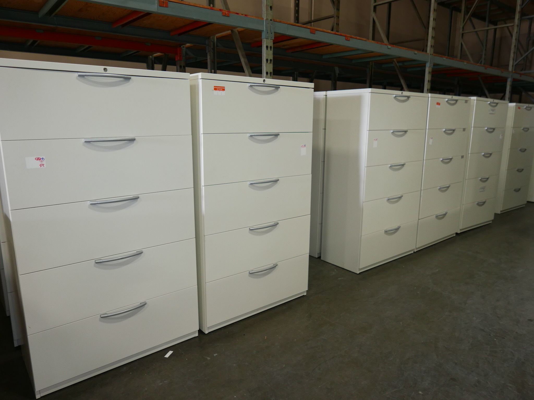 """Most Current Fugate 48"""" Wide 4 Drawer Credenzas Pertaining To 5 Drawer Off White Haworth Lateral File Cabinet – Tr (View 5 of 20)"""