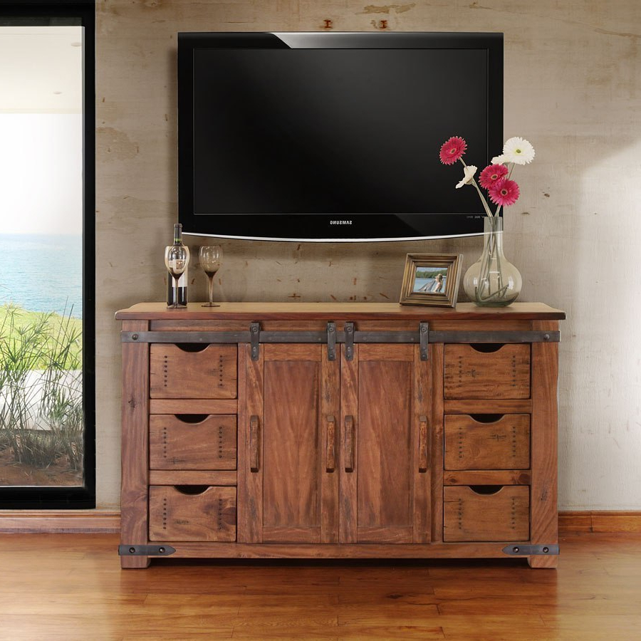 """Most Current Parota 60 Inch Tv Stand W/ 6 Drawers Ifd Furniture In Whittier Tv Stands For Tvs Up To 60"""" (View 2 of 20)"""