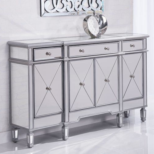 """Most Current Ronce 48"""" Wide Sideboards Within Contempo 48"""" Wide 3 Drawer Server (View 12 of 20)"""
