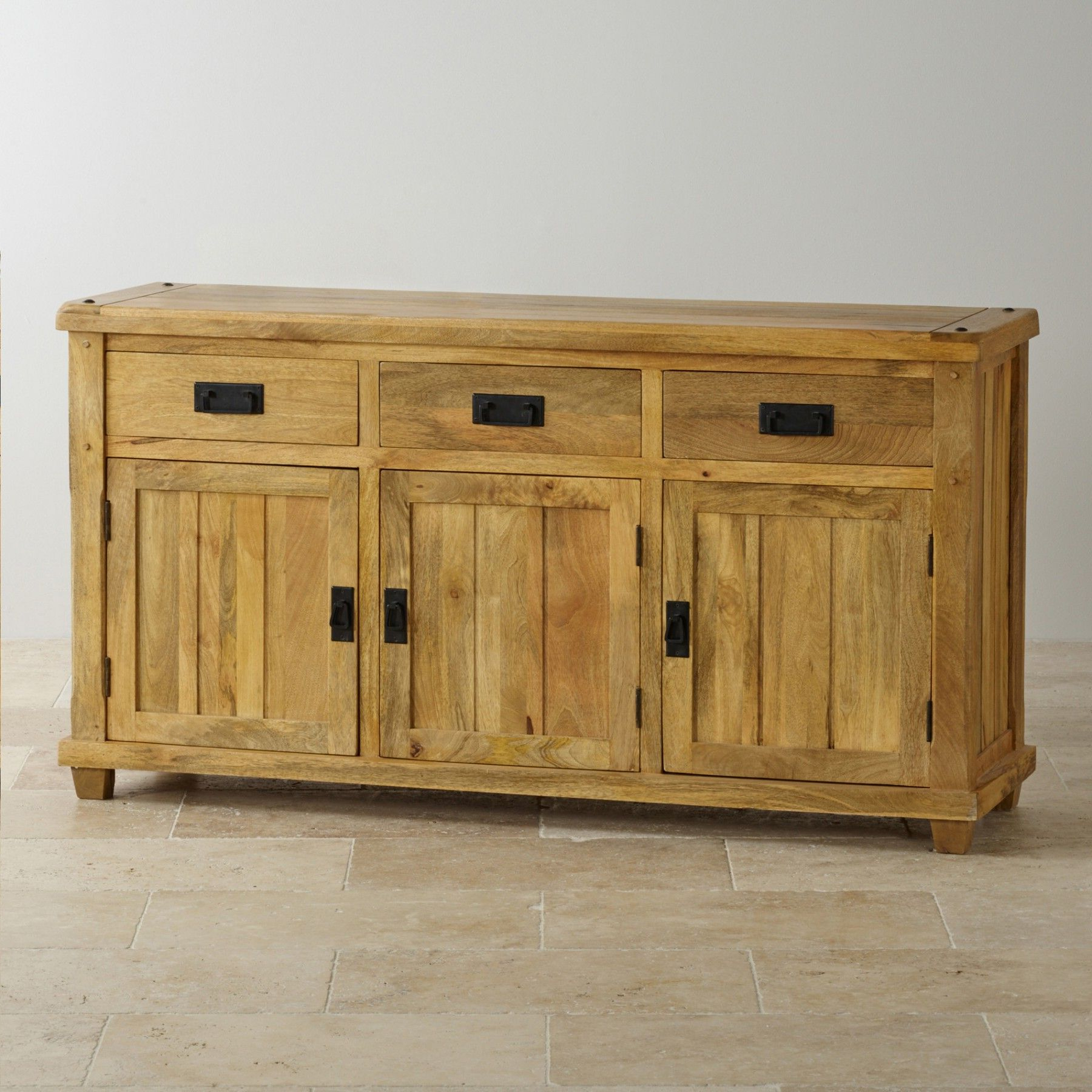 """Most Popular Baku Light Natural Solid Mango Large Sideboard (with Pertaining To Maddox 80"""" Wide Mango Wood Sideboards (View 9 of 20)"""