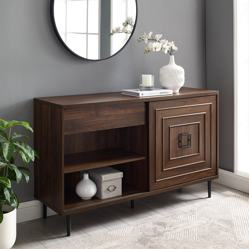 """Most Popular Corrigan Studio® Bristow 52"""" Wide 2 Drawer Credenza In Slattery 52"""" Wide 2 Drawer Buffet Tables (View 14 of 20)"""