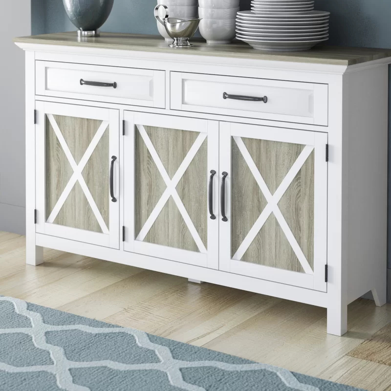 """Most Popular Elllise 62"""" Wide Sideboards Intended For Haverly 52"""" Wide 2 Drawer Sideboard (View 14 of 20)"""