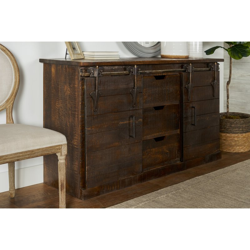 """Most Popular Fritch 58"""" Wide Sideboards Within 17 Stories Adelina 58"""" Wide 3 Drawer Sideboard & Reviews (View 11 of 20)"""