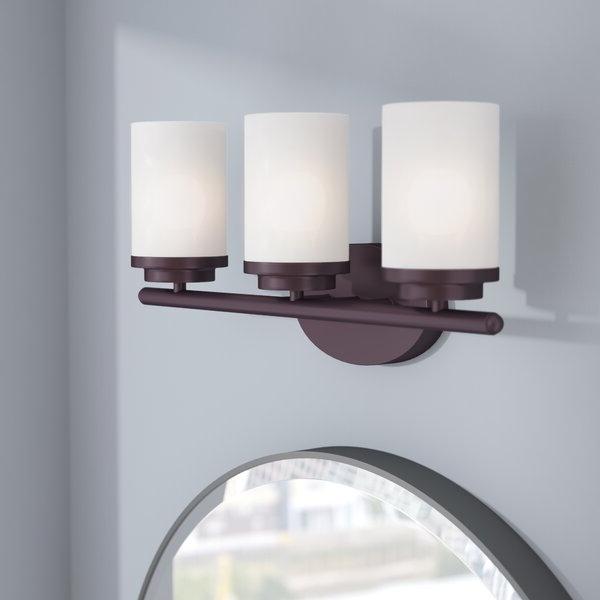 Most Popular Latitude Run Callender 3 Light Vanity Light & Reviews Throughout Callender Buffet Tables (View 4 of 20)